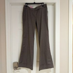 Old Navy taupe mid-rise, wide-leg dress pants